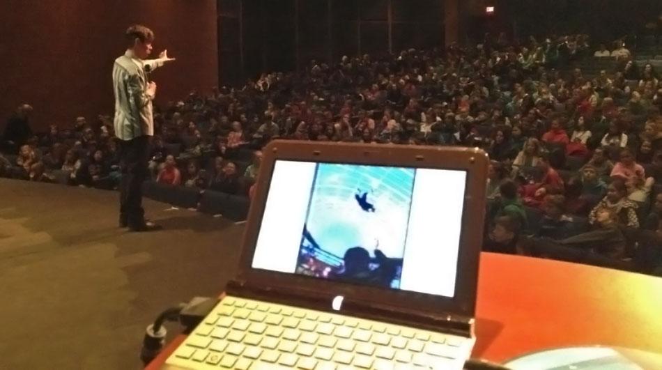 Shane Peacock giving presentation in Kelowna, BC
